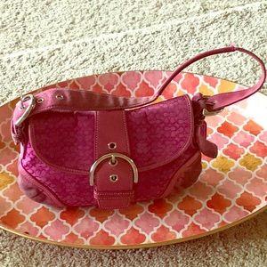 Small Dark Pink Coach Bag